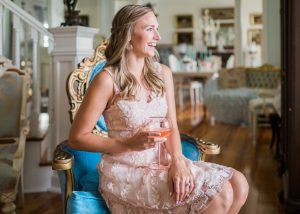 Anthropologie Lace Dress Wine Glass