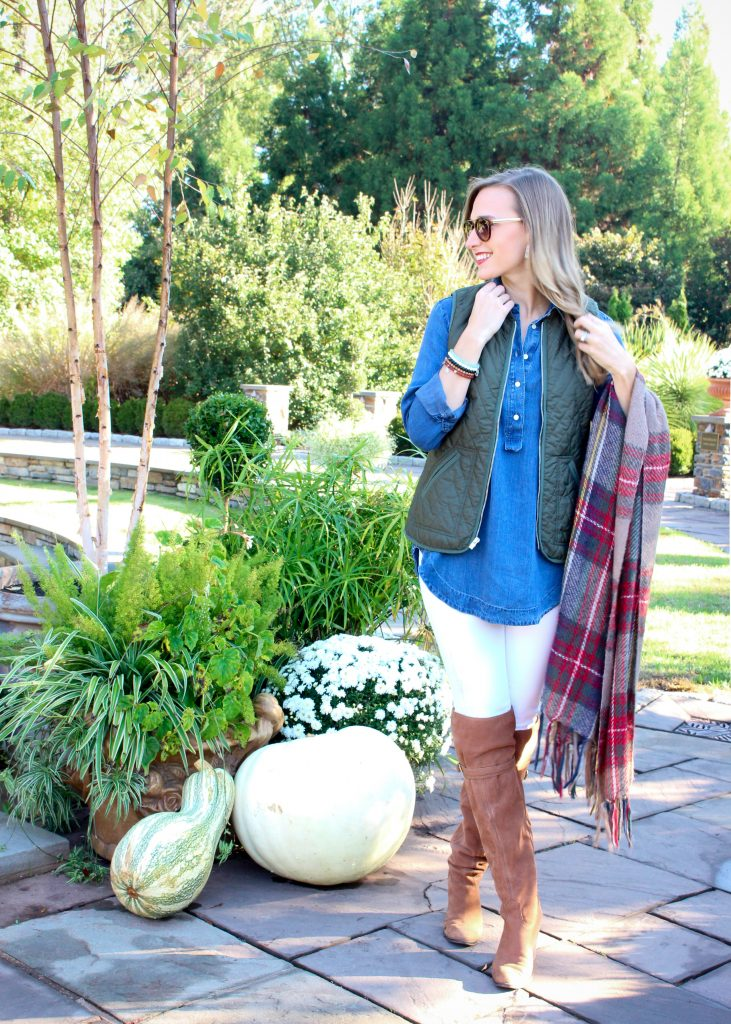 Danielle Davis Style - White Denim For Fall - @danidavisstyle