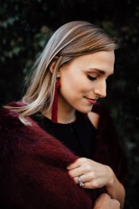Faux Fur and Tassel Earrings