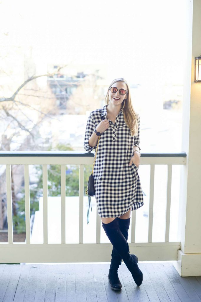 Danielle Davis Style - Gingham Shirt Dress - @danidavisstyle