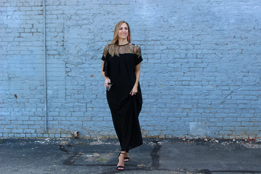 Fall Embroidered Dress - Danielle Davis Style - @danidavistyle